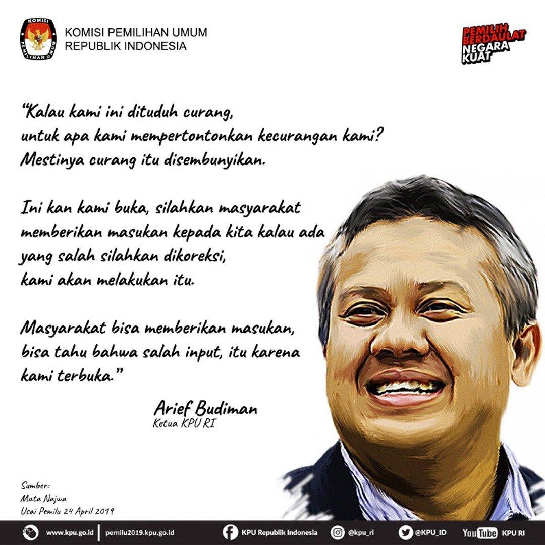 Ulasan Arief Budiman mengenai tudingan kecurangan yang dialamatkan pada KPU