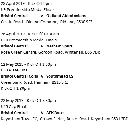Good luck to all the Central teams in their upcoming Finals