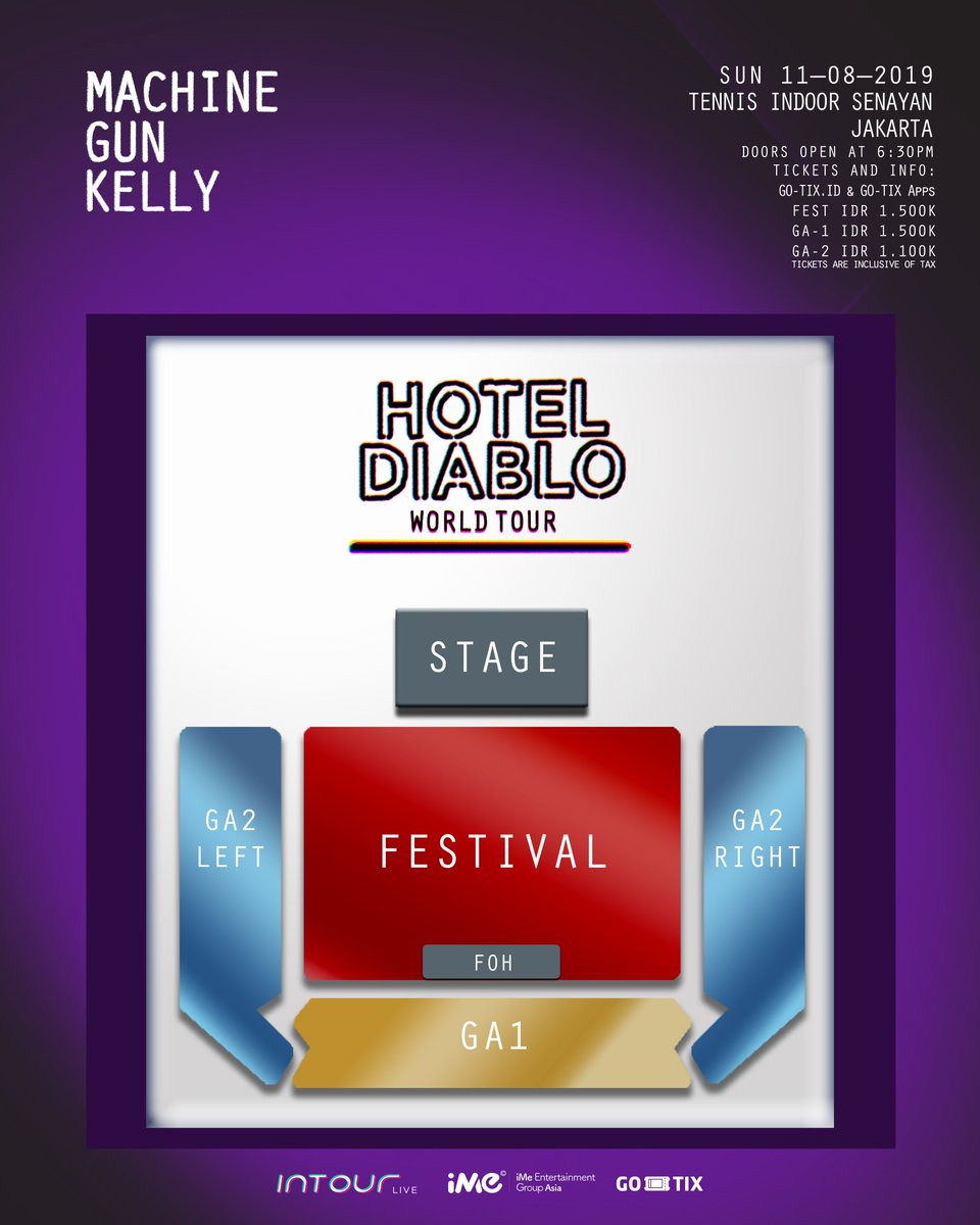Ime Id On Twitter Machine Gun Kelly Hotel Diablo World Tour In