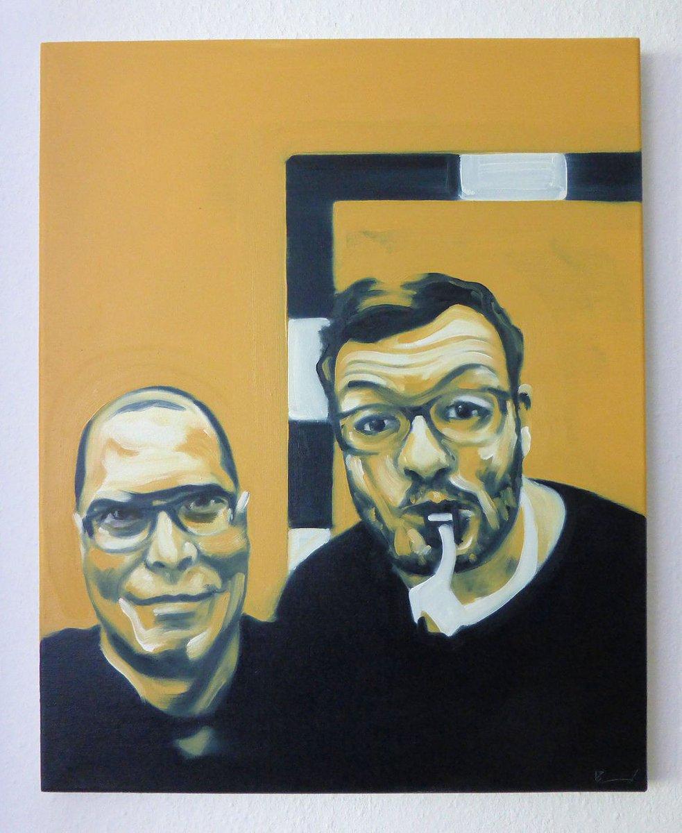 "Neues gemaltes Promiselfie ""You and me 02, Oliver"" 50x40 cm, Öl/Lw. Painted selfie with celeb. #art #artwork #painting #kunst #malerei #Selfie #promi #Promiselfie #dortmund  Http://instagram.com/eckhardbremerpic.twitter.com/FuCQ1lwk1x"