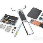 Image for the Tweet beginning: iFixit Removes Galaxy Fold Teardown