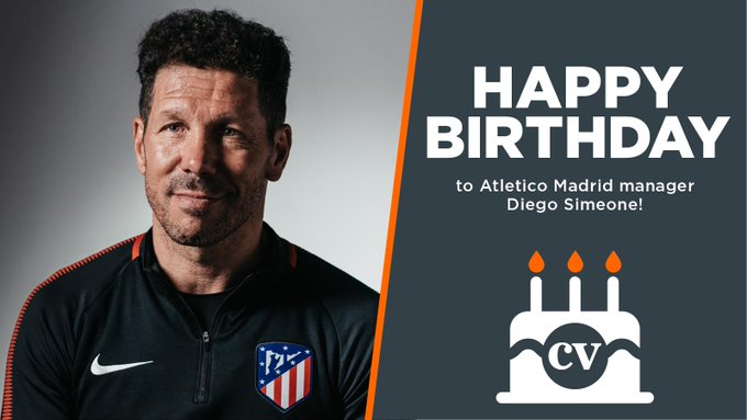 Happy birthday to Atletico Madrid manager Diego