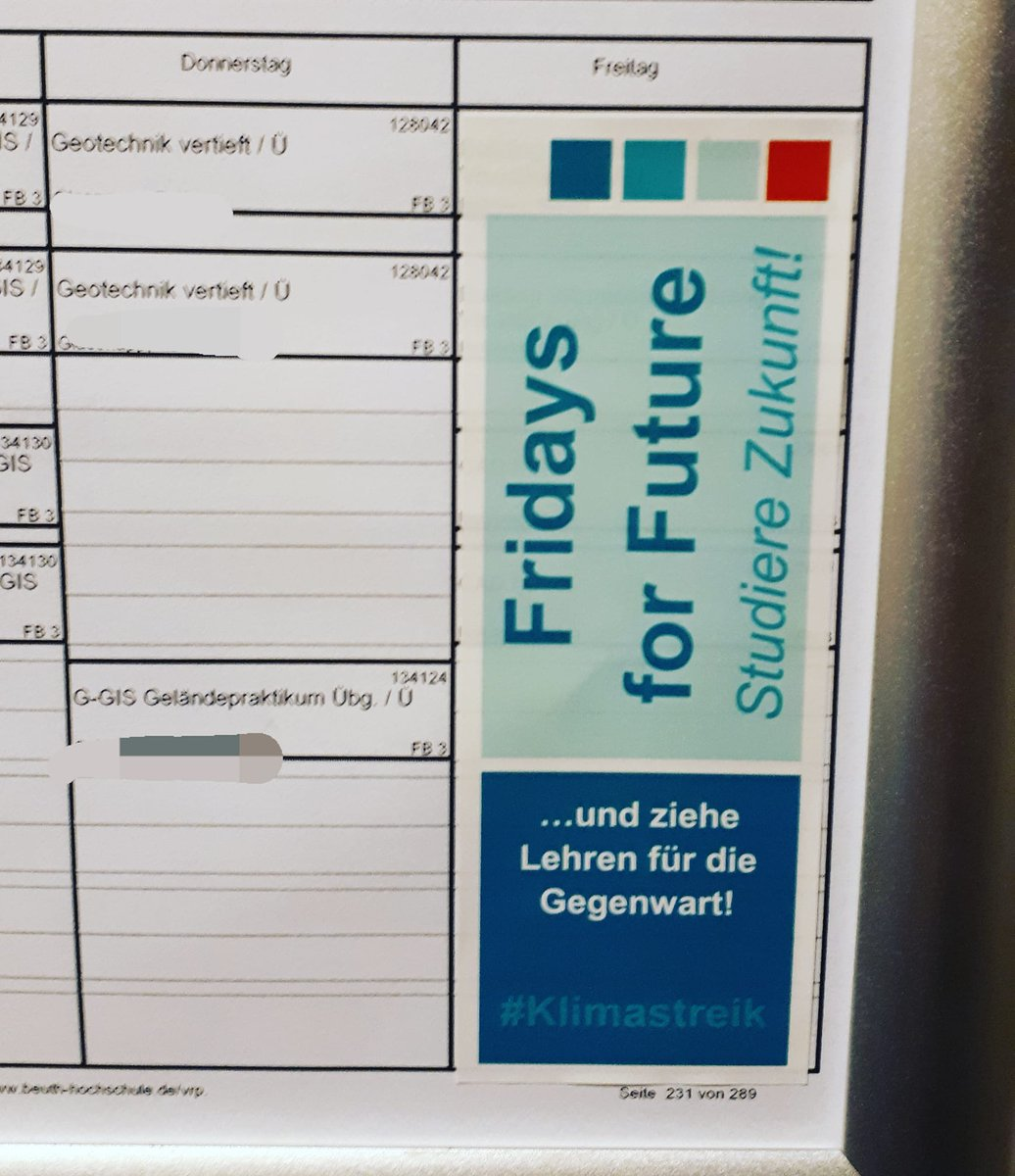 Starkes Statement, @BeuthHS! #StudiereZukunft @FridayForFuture @FFF_Berlin @SenUVKBerlin (Bildrechte: @ALL_Kollektiv)
