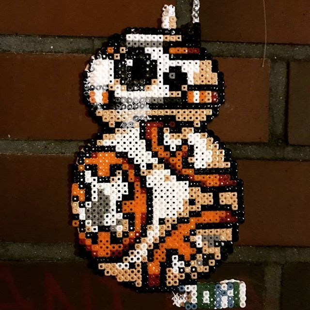 Bb 8 Star Wars Vii Keyring Hama Mini Beads By Duastiro Creazioni