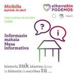 Image for the Tweet beginning: 🗣 Hoy última #MesaInformativa para