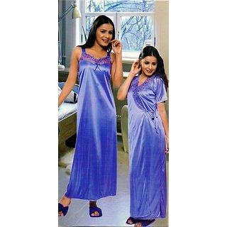72f58606640 Get 53% off on Sukuma Multi Colors Satin Plain Nighty With Robe women  lingerie sleepwear