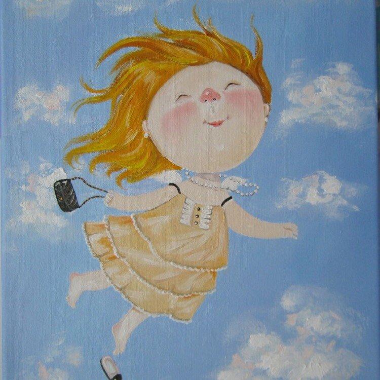 Открытки детские, открытки художница