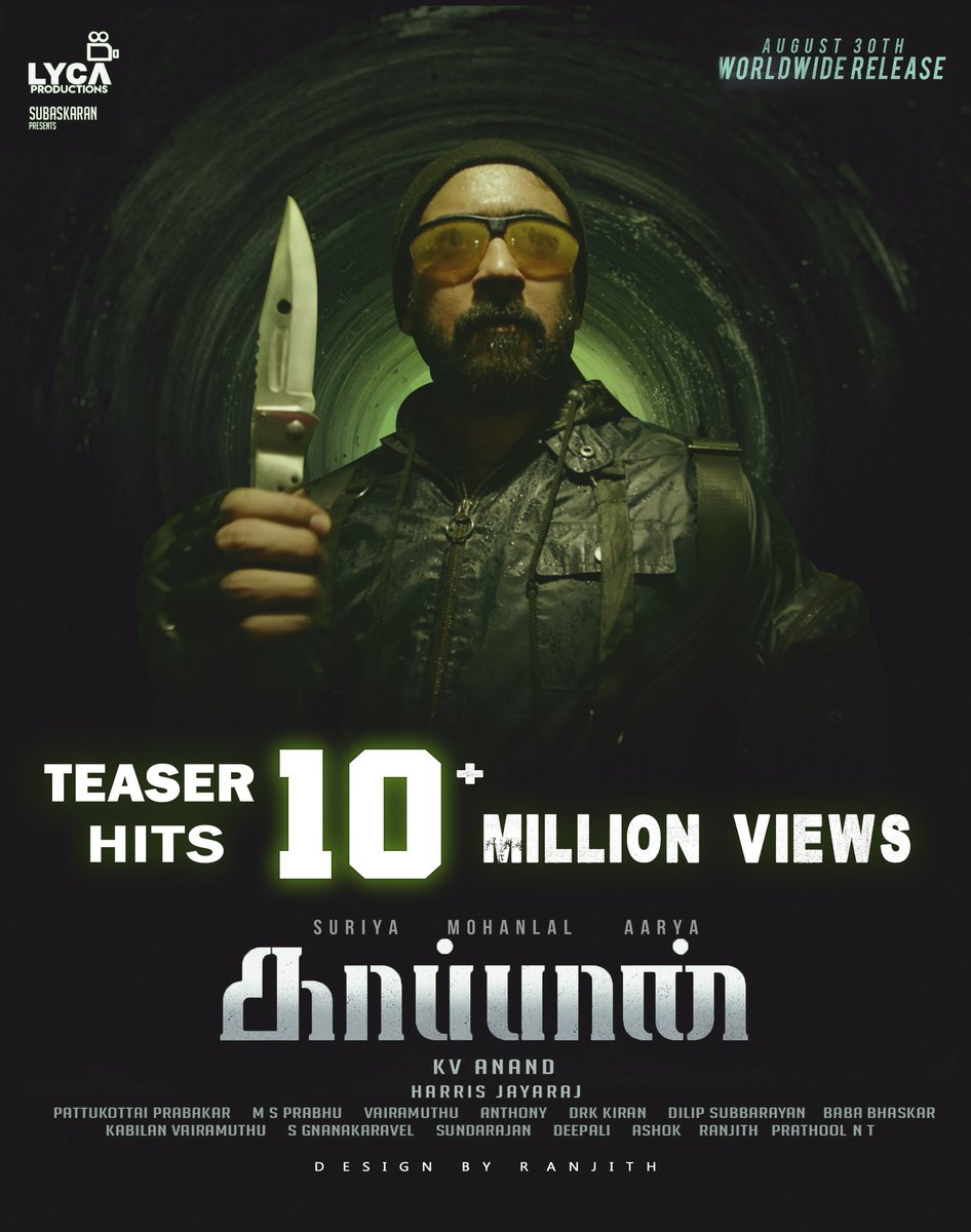 KaappaanTeaserCelebrations tagged Tweets and Download