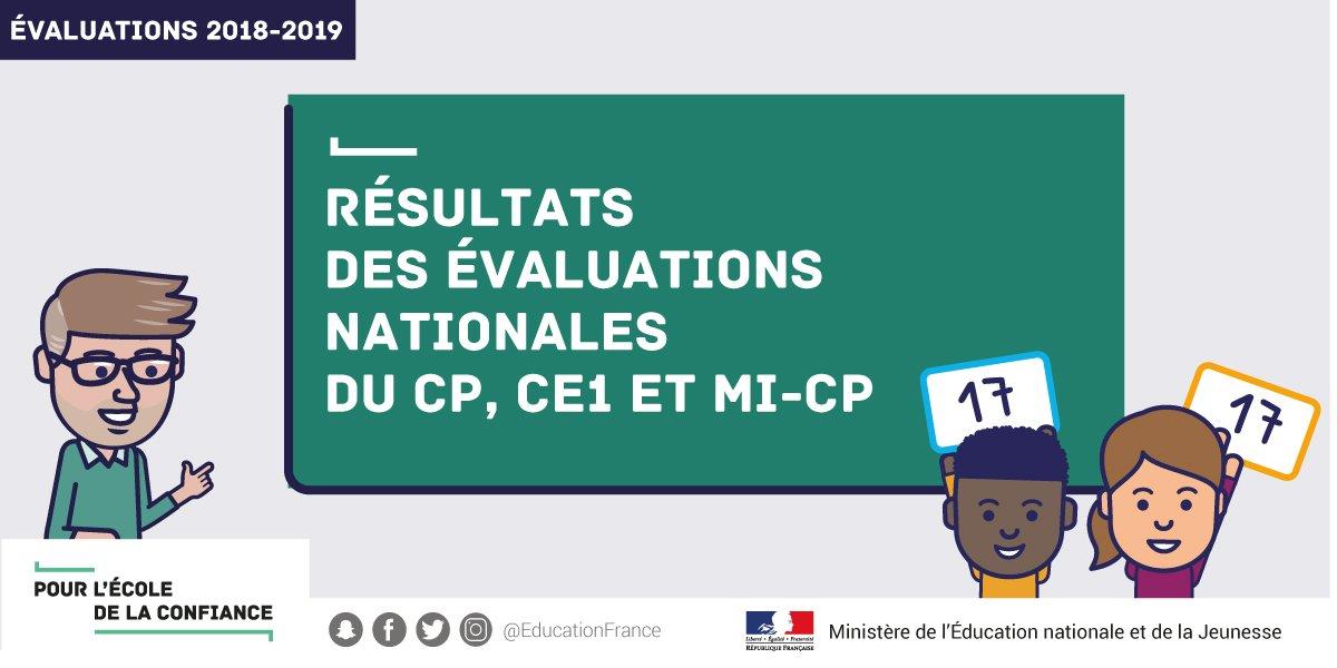 Education Nationale V Twitter Evaluations 2018 2019 En Cp Et Ce1
