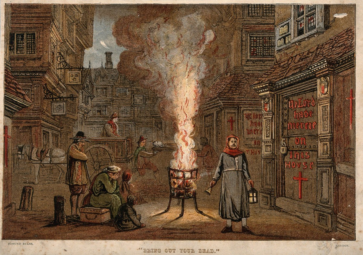 How do you avoid catching the plague? Here's a thread of the best medical advice from 1665 as the Great Plague ravaged London.