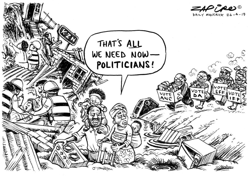 NEW ZAPIRO: KZN Floods. Get the cartoons before anyone else, sign up to the @zapiro newsletter https://buff.ly/2UVJJkU