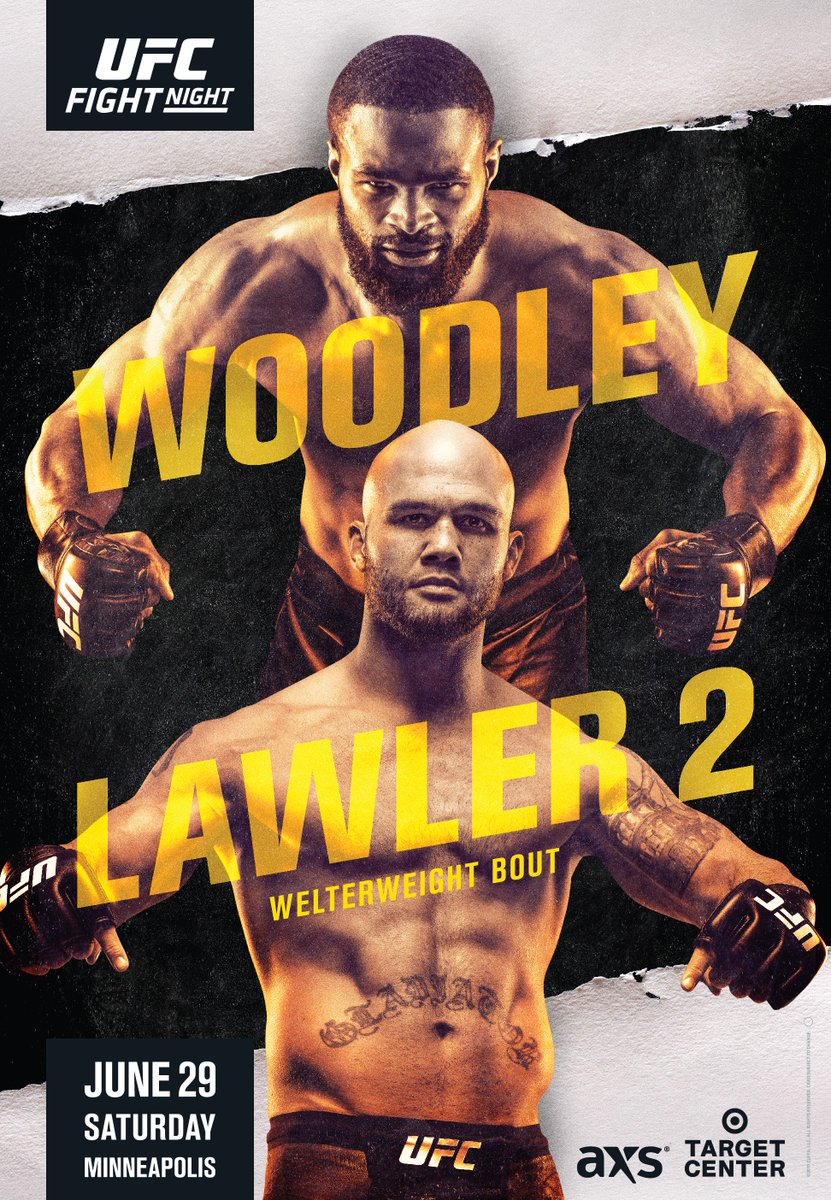 The hunt back to the belt is on!!!   @TWooodley & @Ruthless_RL run it back in the main event of #UFCMinneapolis.   Tickets on-sale next week!