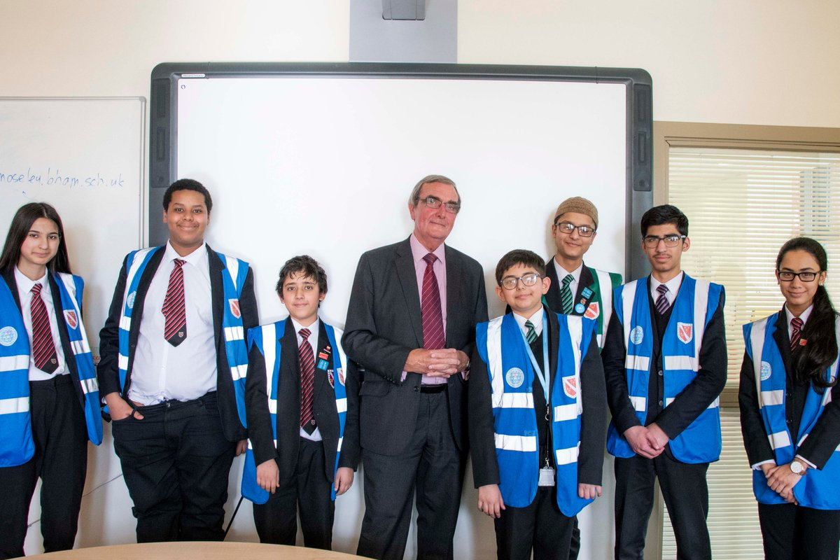 Met with students from @MoseleySchool after talking at a recent school event.
