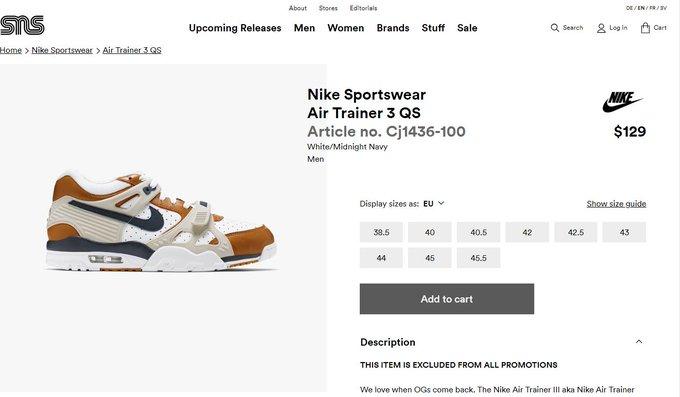 size 40 50294 7719f 海外ショップ sneakersnstuff発売開始. Nike Air Trainer 3 MEDICINE BALL CJ1436-100  japanican.blog.jp archives 51556…