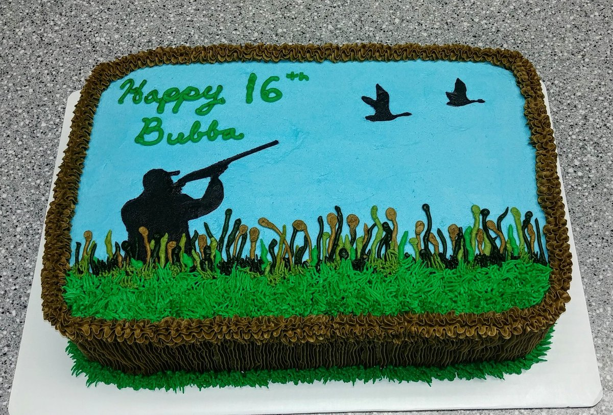 Awesome Cupcakes By Flea On Twitter Duck Hunting Birthday Cake Cake Funny Birthday Cards Online Barepcheapnameinfo