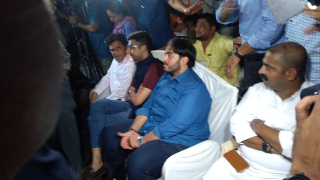 Anant Ambani attends PM Narendra Modi's BKC Mumbai rally