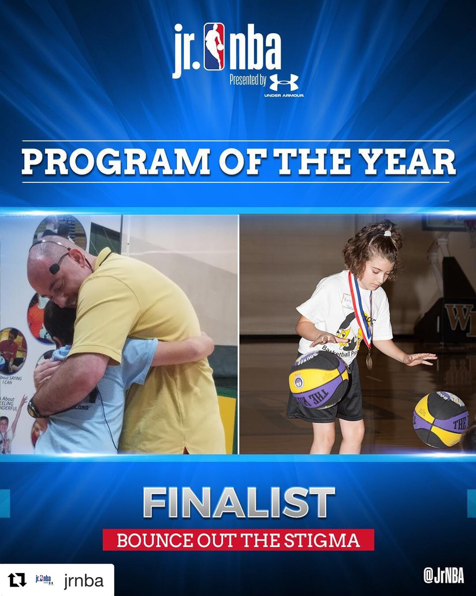 Our affiliate Bounce Out The Stigma is a finalist for the Jr. NBA Program of the Year🎉 🏀 We're extremely proud of this partnership & look forward to continuing our partnership 🙌 Winner will be announced May 17 👏👏 #JrKnicks