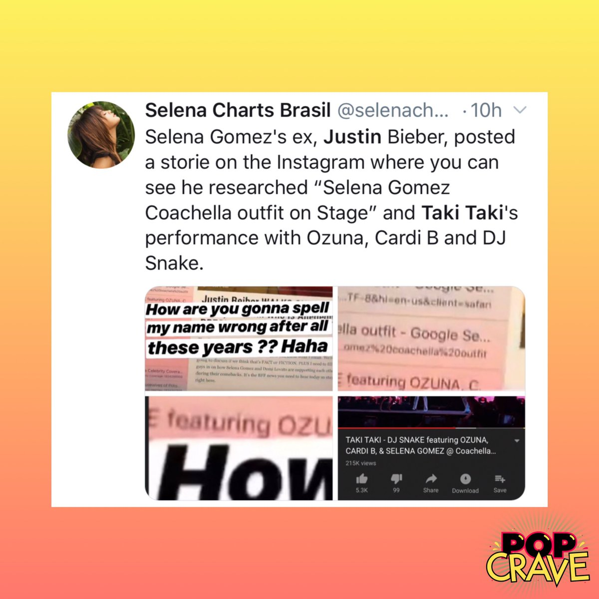 Pop Crave On Twitter This Ig Story Caught Fans Attention After
