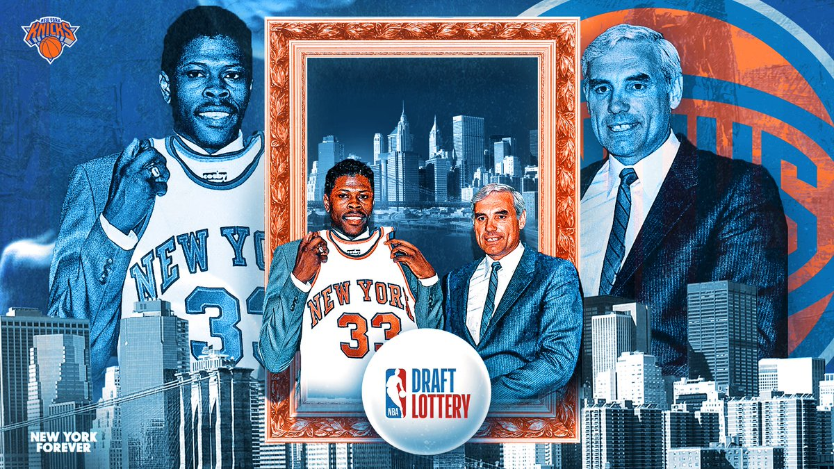Patrick Ewing will rep the Knicks at this year's Draft Lottery, 34 years after the late Dave DeBusschere celebrated New York being awarded the top pick. Where will you be when the pick is announced on May 14?