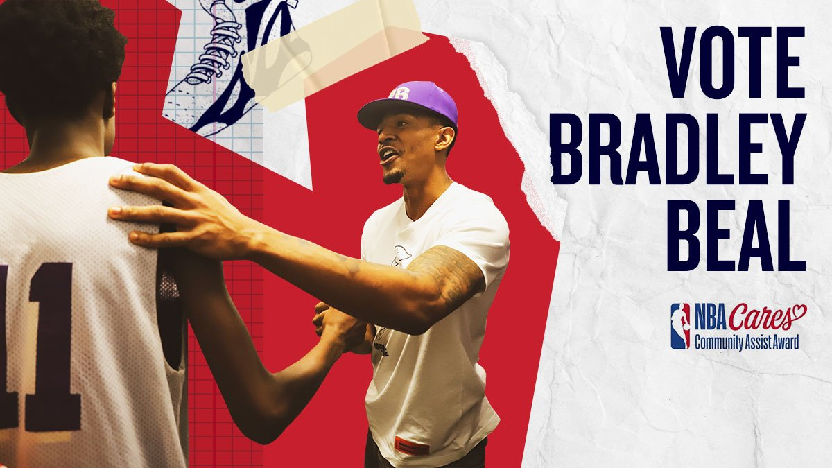 #BradleyBeal did amazing work in the community this season! Vote to help @RealDealBeal23 win the #NBACommunityAssist Award!