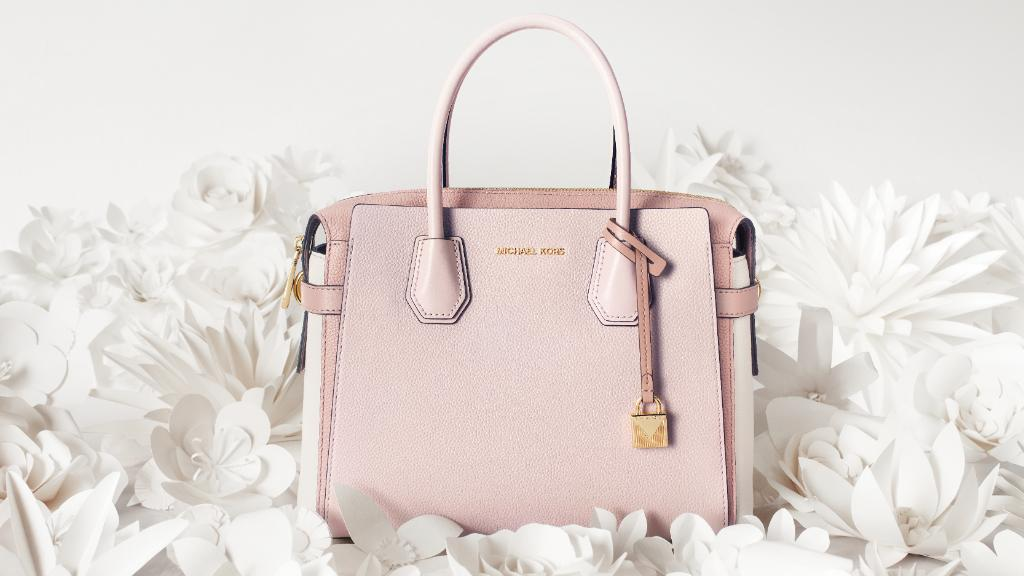 b02ba3ac167 At first blush  our pretty in pink tri-color Mercer satchel is here just in  time for Mother s Day. http   mko.rs 6015Ee4mB  MichaelKorspic.twitter.com   ...