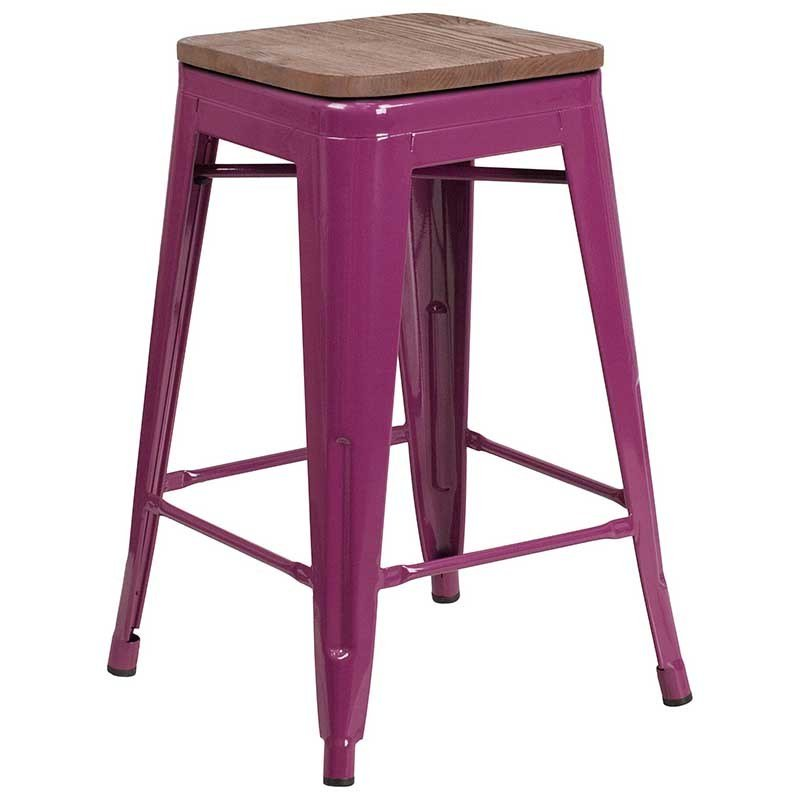 https://bayfurnishings.com/product/24-high-backless-purple-counter-height-stool-with-square-wood-seat/… Save on space with this Backless Metal Counter Stool & wood seat. The clean lines and simple design of this industrial style stool will look great in your kitchen or inside your bar/restaurant.  #bayfurnishings #furniture #BarstoolBestBar #BarstoolChamps