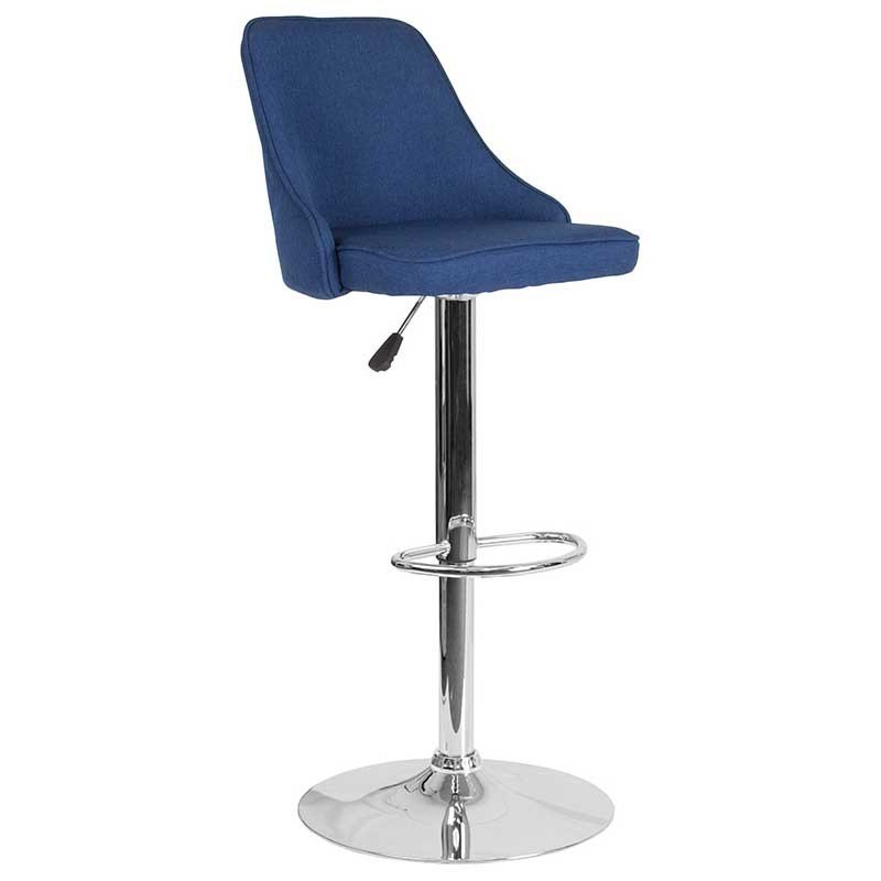 This inviting, adjustable height barstool creates a warm, and welcoming feeling to the kitchen, dining or bar area. The curved modish back and deep cushion seating adds a level of comfort. https://bayfurnishings.com/product/trieste-contemporary-adjustable-height-barstool-in-blue-fabric/… #bayfurnishings #furniture #BarstoolBestBar #BarstoolChamps