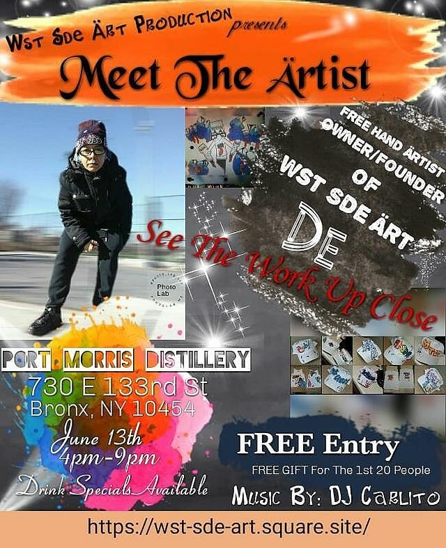 This event is long over due but definitely finally here 💯 Meet the artist, CEO and founder of the overall Wst Sde Art company. View her work up close and personal, vibe and see what's ahead for Wst Sde Art.   Free gift for the 1st 20 People 💥  Don't Miss Out @pmdpitorro