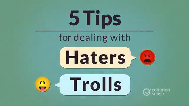 Image for the Tweet beginning: Haters and trolls are people