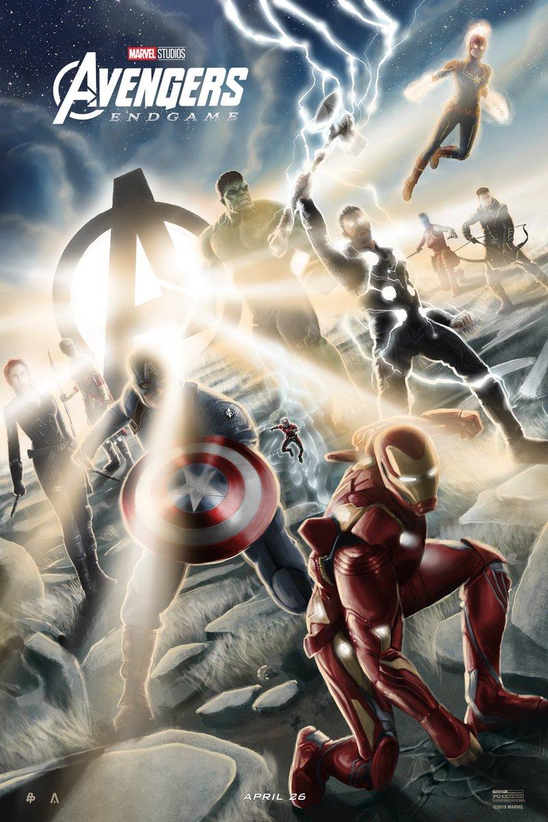 Here's your look at the Marvel Studios' #AvengersEndgame-inspired poster from artist @TomMiatke! #DontSpoilTheEndgame