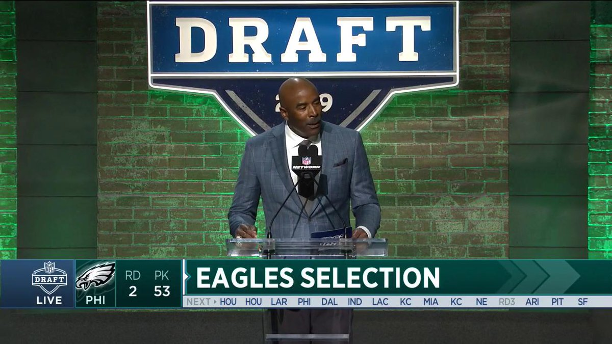 The moment Miles Sanders joined the fam.  Tune in to the NFL Draft on ABC, ESPN, and NFL Network.  #EaglesDraft | #FlyEaglesFly