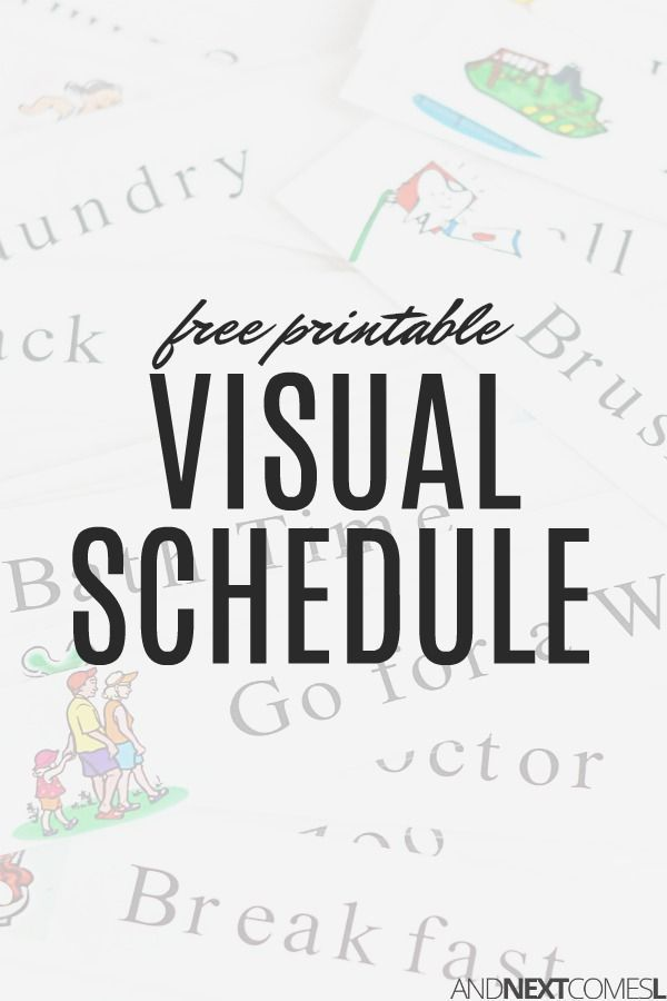 image relating to Free Printable Visual Schedule for Home known as Totally free printable visible plan for property - suitable for