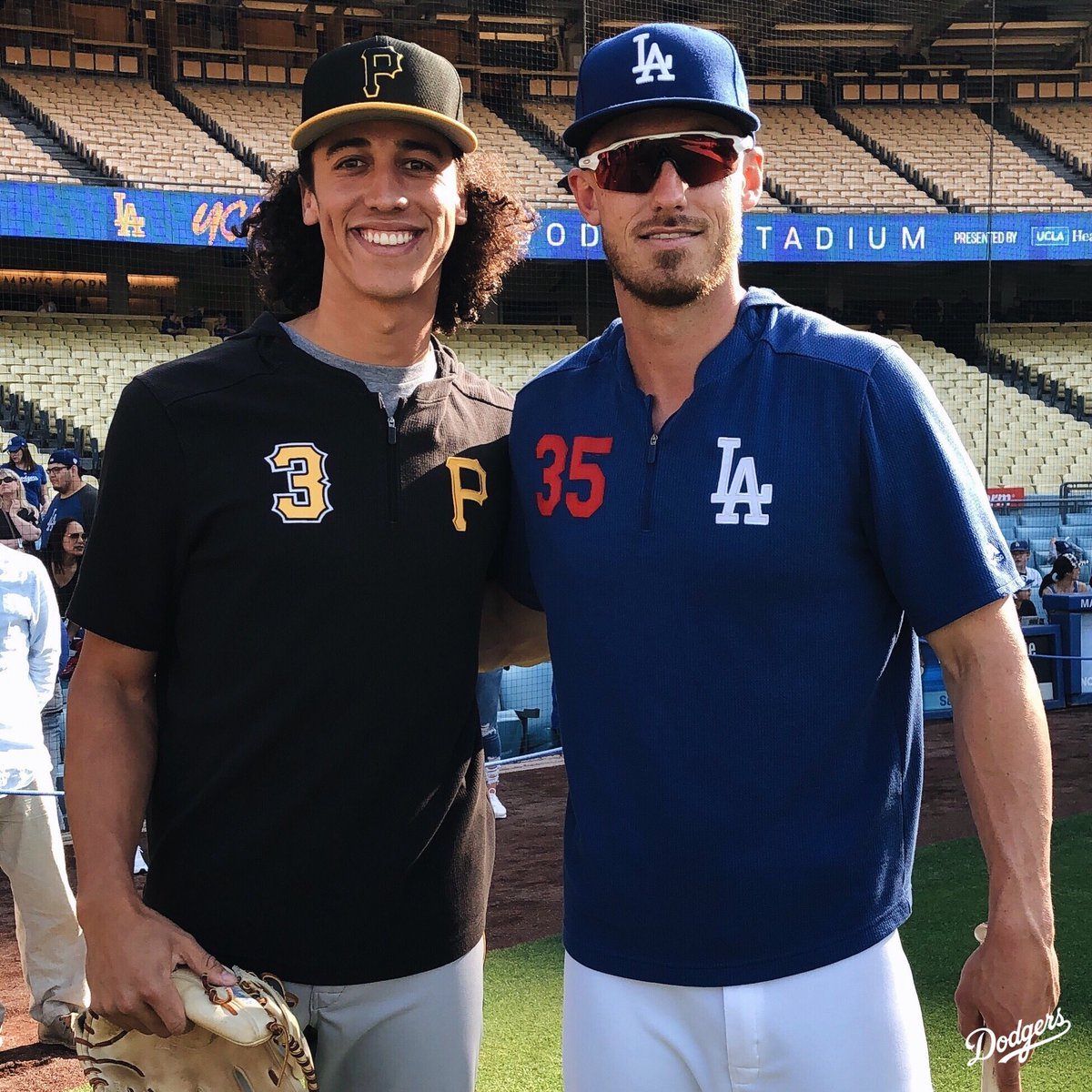 Playing against your childhood friend at Dodger Stadium? Just like they drew it up.
