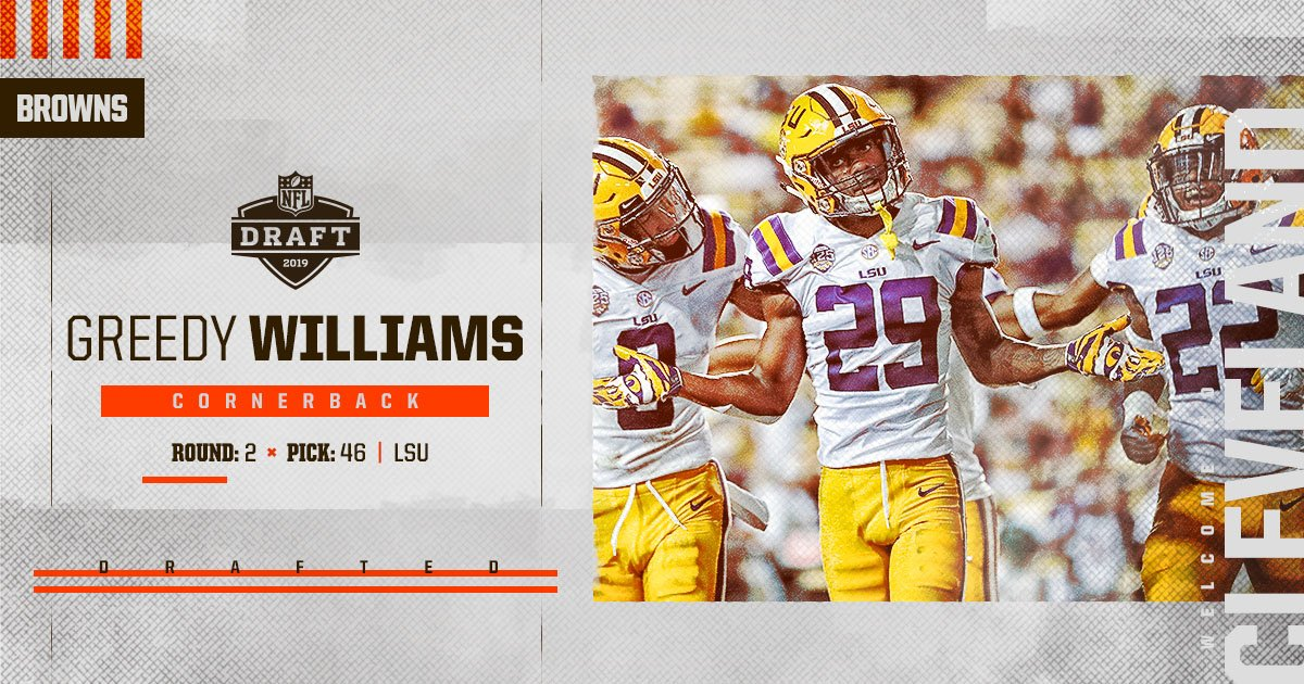 Welcome to Cleveland, Greedy Williams! clevelandbrowns.com/draft #BrownsDraft