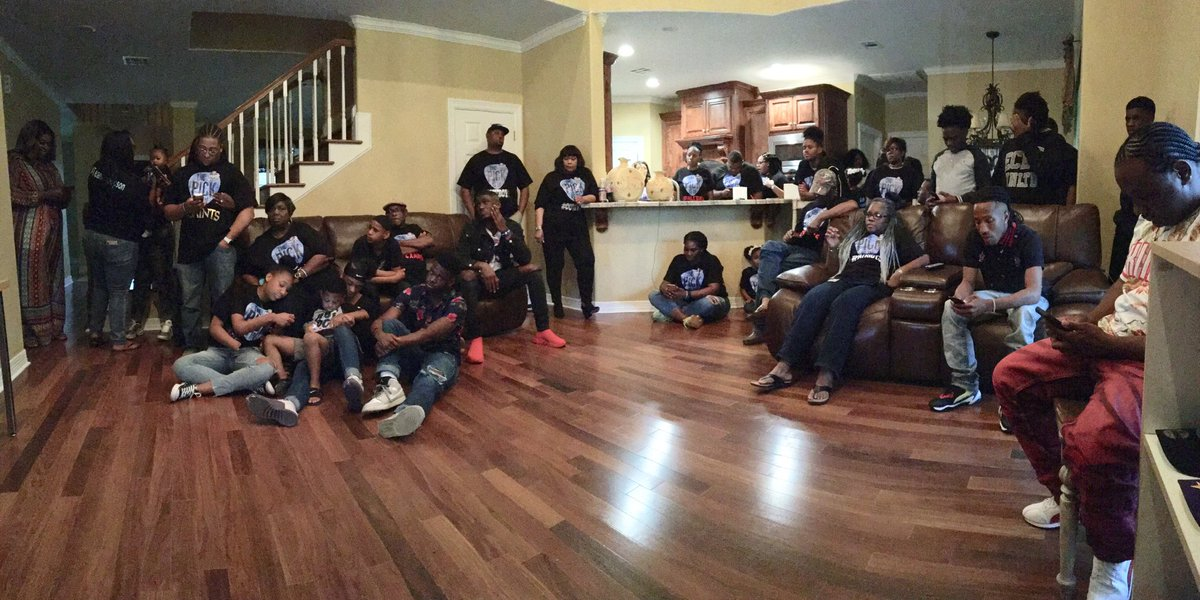 On hand in Orange, TX at Deionte Thompson's NFL Draft watch party @playmaker_11