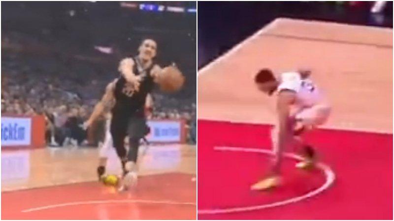 【影片】突發!柯瑞防守踩到對手導致腳踝90度扭傷,目前已回到替補席!
