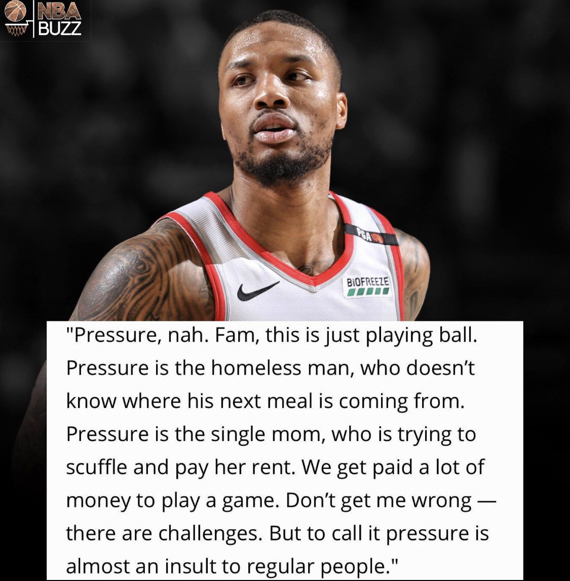Basketball is fun Life is Pressure
