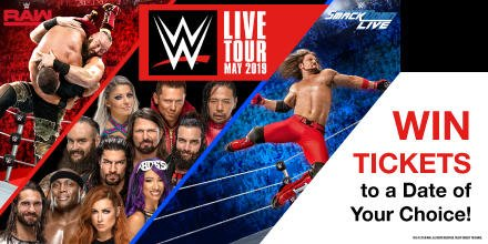 WIN WWE LIVE TICKETS!! 🎇 We're giving one lucky winner the chance to win 4 tickets to a date of their choice 👊 Want to win?  1) RT 2) Enter your email: https://woobox.com/y3sbs4   3) Tell us your fave wrestler's entrance music 👇   Comp closes 23:59 on 28/04/19