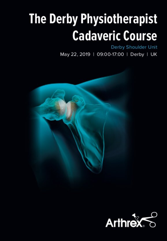 Registration for the Registrar @DerbyShoulder Unit Cadaveric Upper Limb Course on the 20th and 21st of May is now full! We do have a few spaces left for the Physiotherapist Cadaveric Course on the 22nd, please contact events@arthrex.co.uk to avoid missing out. #DiscoverArthrex
