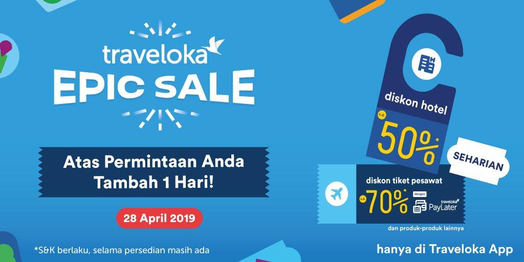 Traveloka Indonesia A Twitter Yah Sayang Sekali Utnuk Promo Epic Hours Sudah Tidak Tersedia Ya Sebagai Informasi Untuk Promo Diskon Hotel Epic Sale Masih Tersedia Ya Thanks Dr Https T Co Mtr3ajuk9z