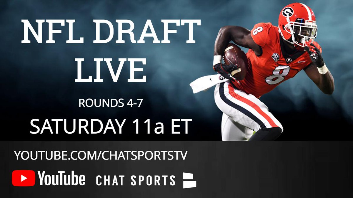 6d59573a466 Then the @ChatSports #NFLDraft Coverage is for you! All 7 rounds, EVERY  pick will be discussed WATCH Here NOW: https://www.youtube.com/watch?v=uCK8r-3KM1w  … ...
