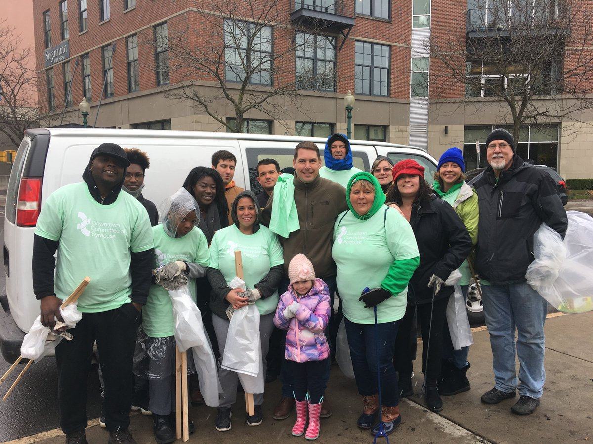 We team up to cleanup, rain or snow, because all this trash has got to go. Thank you for inviting us to tackle Downtown on #EarthDay  weekend @downtownsyracuse  <br>http://pic.twitter.com/QkXshszhiC