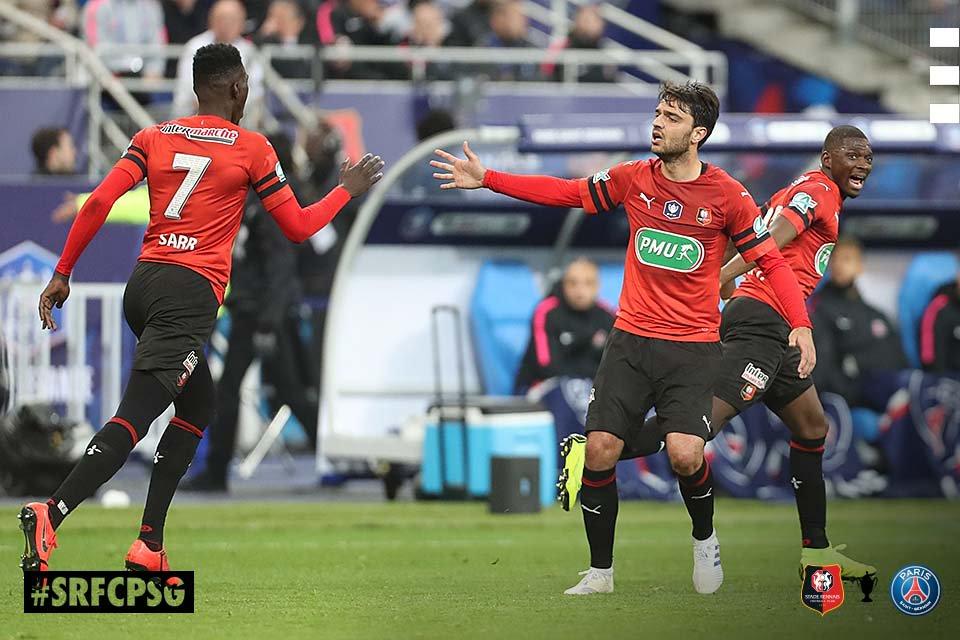 Stade Rennais SRFC PSG Coupe de France csc Kimpembe photo socialmedia digital Ouest MEDIAS