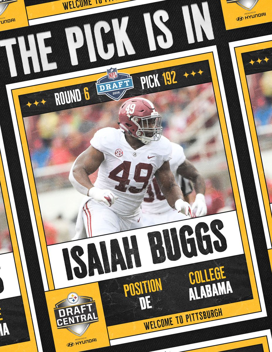 With the 192nd pick in the 2019 #NFLDraft, we select DE Isaiah Buggs.