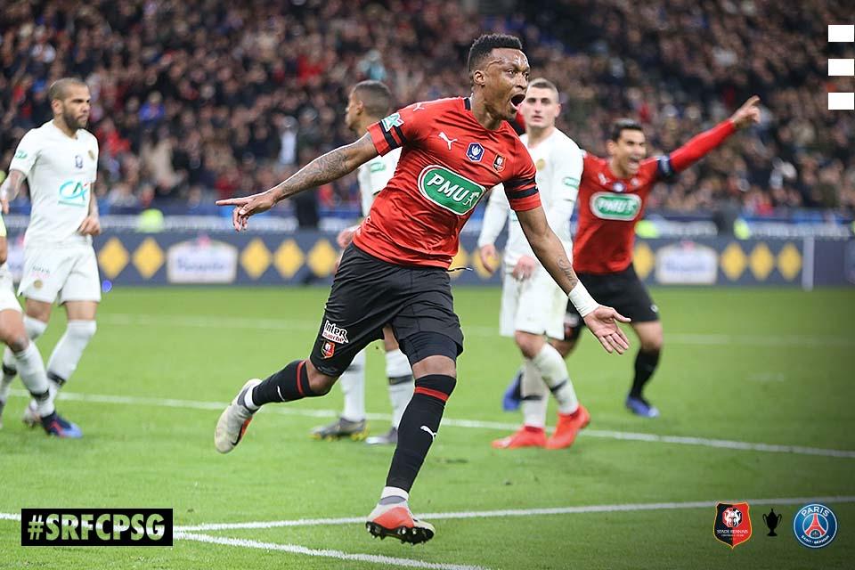 Stade Rennais SRFC PSG Coupe de France joie but Mexer photo Ouest MEDIAS digital socialmedia