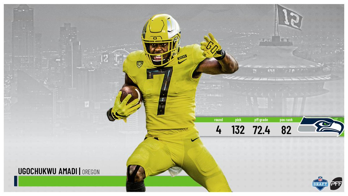 Pff On Twitter With The 132nd Pick Of The 2019 Nfldraft The Seattle Seahawks Select Oregon S Ugo Amadi