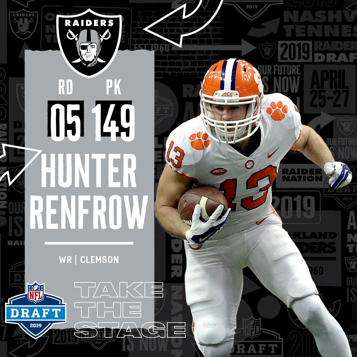 new concept 5f918 f56bd Hunter Renfrow becomes third Tiger to join the Oakland ...