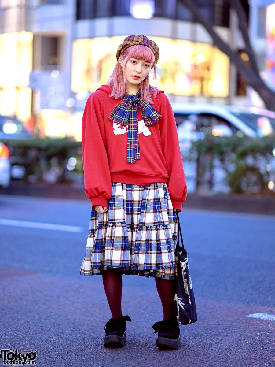 fe97dea21 19 year old mami on the street in harajuku wearing a kawaii embroidered  ribbon rabbit sweatshirt