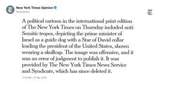 NYT apology tweet