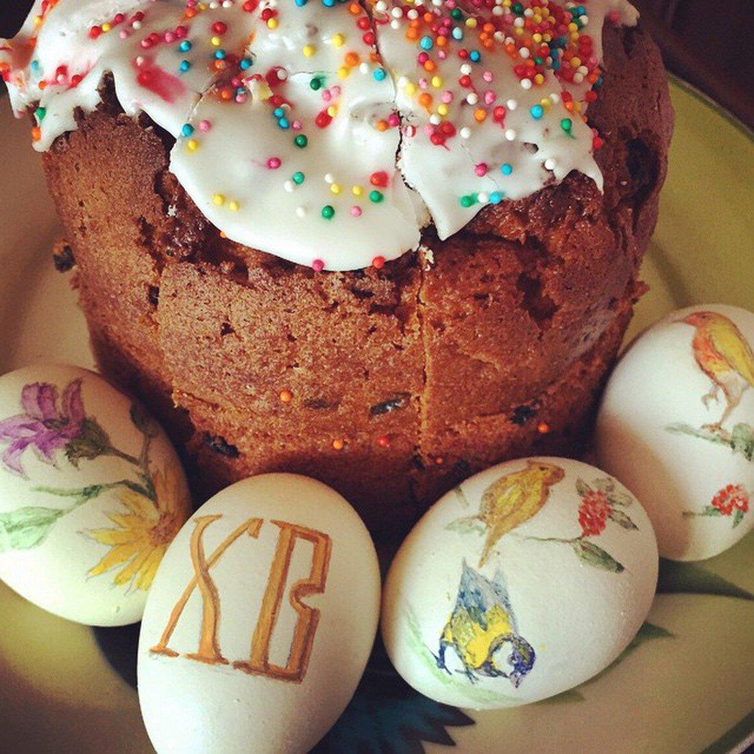 Фото пасхальных яиц и куличей